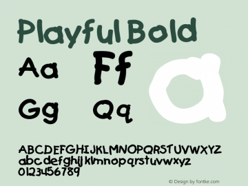 Playful Bold Altsys Fontographer 4.1 5/24/96 Font Sample