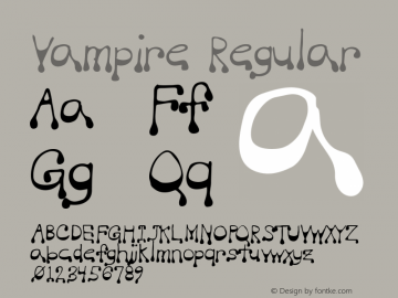 Vampire Regular Macromedia Fontographer 4.1 5/20/96 Font Sample