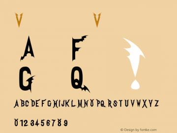 Vampire Vampire Version 1.00 Font Sample