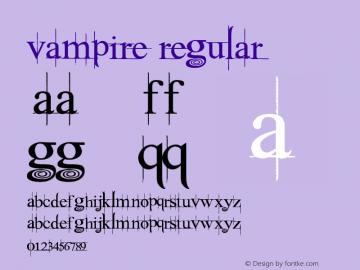 Vampire Regular Version 1.00 May 20, 2010, initial release Font Sample
