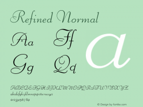 Refined Normal Altsys Fontographer 4.1 5/24/96 Font Sample