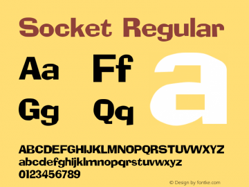 Socket Regular Altsys Fontographer 3.5  9/25/92 Font Sample