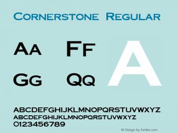 Cornerstone Regular Altsys Fontographer 3.5  9/25/92 Font Sample