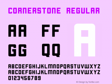 Cornerstone Regular Version 1.0 Font Sample