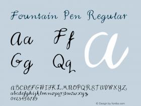 Fountain Pen Regular Macromedia Fontographer 4.1 5/23/96 Font Sample
