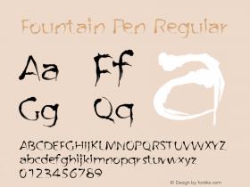 Fountain Pen Regular Macromedia Fontographer 4.1.4 29‐05‐2003 Font Sample
