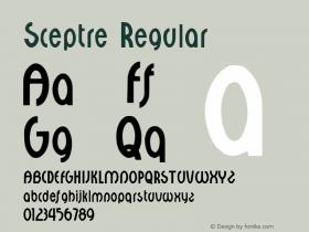 Sceptre Regular Altsys Fontographer 3.5  9/25/92 Font Sample