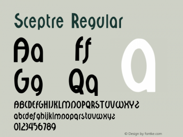Sceptre Regular Altsys Fontographer 3.5  9/25/92 Font Sample