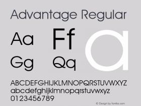 Advantage Regular Font Version 2.6; Converter Version 1.10 Font Sample