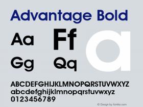 Advantage Bold Font Version 2.6; Converter Version 1.10 Font Sample