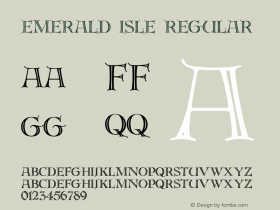 Emerald Isle Regular Macromedia Fontographer 4.1 5/6/96 Font Sample