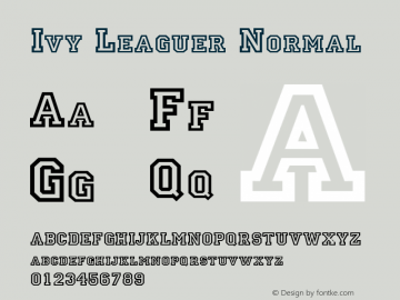 Ivy Leaguer Normal Altsys Fontographer 4.1 5/24/96 Font Sample