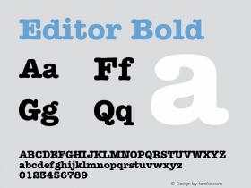Editor Bold Font Version 2.6; Converter Version 1.10 Font Sample