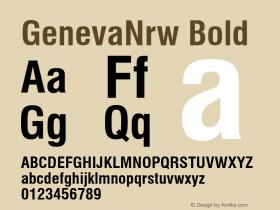 GenevaNrw Bold Font Version 2.6; Converter Version 1.10 Font Sample