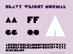 Heavy Weight Normal Altsys Fontographer 4.1 5/24/96 Font Sample