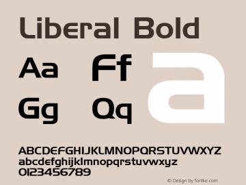 Liberal Bold Font Version 2.6; Converter Version 1.10 Font Sample