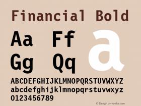 Financial Bold Font Version 2.6; Converter Version 1.10 Font Sample