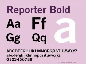 Reporter Bold Font Version 2.6; Converter Version 1.10 Font Sample
