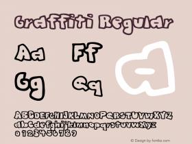 Graffiti Regular Macromedia Fontographer 4.1 5/31/96 Font Sample