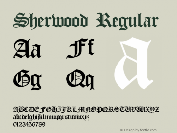 Sherwood Regular 001.001 Font Sample