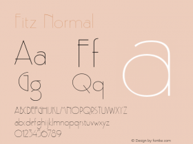 Fitz Normal Altsys Fontographer 4.1 5/24/96 Font Sample