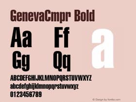 GenevaCmpr Bold Font Version 2.6; Converter Version 1.10 Font Sample
