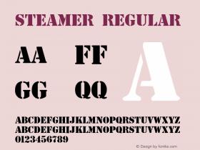 Steamer Regular Altsys Fontographer 3.5  5/27/92 Font Sample