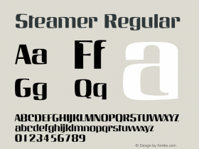 Steamer Regular 001.001 Font Sample