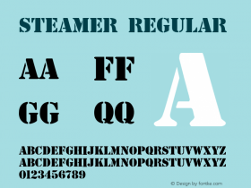 Steamer Regular Altsys Fontographer 3.5  5/27/92 Font Sample