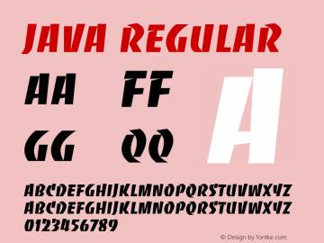 Java Regular Font Version 2.6; Converter Version 1.10 Font Sample