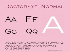 DoctorEye Normal Altsys Fontographer 4.1 5/24/96 Font Sample