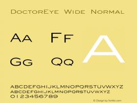 DoctorEye Wide Normal Altsys Fontographer 4.1 5/31/96 Font Sample