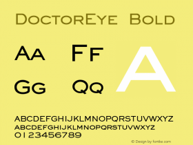 DoctorEye Bold Altsys Fontographer 4.1 5/24/96 Font Sample