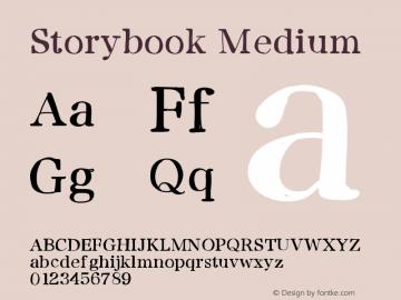 Storybook Medium Version 001.000 Font Sample