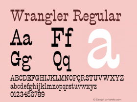 Wrangler Regular Font Version 2.6; Converter Version 1.10 Font Sample