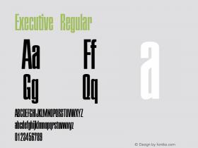 Executive Regular Macromedia Fontographer 4.1 5/6/96 Font Sample