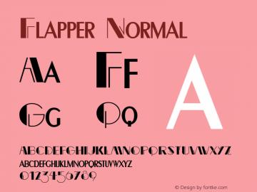 Flapper Normal Altsys Fontographer 4.1 5/24/96 Font Sample