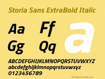 Storia Sans ExtraBold Italic Version 60.001;March 19, 2020;FontCreator 12.0.0.2522 64-bit图片样张