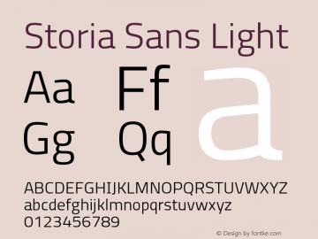 Storia Sans Light Version 60.001;March 19, 2020;FontCreator 12.0.0.2522 64-bit图片样张