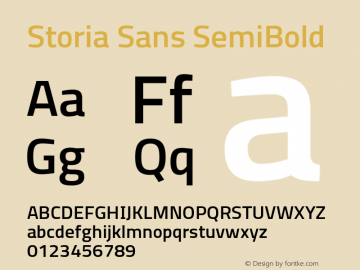 Storia Sans SemiBold Version 60.001;March 19, 2020;FontCreator 12.0.0.2522 64-bit图片样张