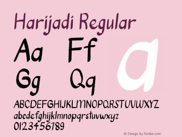 Harijadi Version 1.001;Fontself Maker 3.5.1图片样张