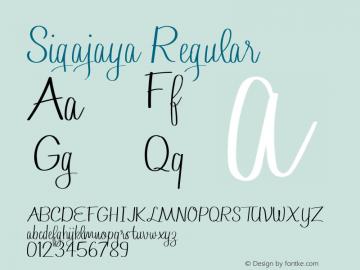 Sigajaya Version 1.010;Fontself Maker 3.5.1图片样张