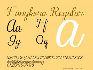 Funykora Version 1.002;Fontself Maker 3.5.1图片样张