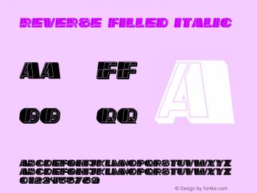 Reverse Filled Italic Version 1.000图片样张