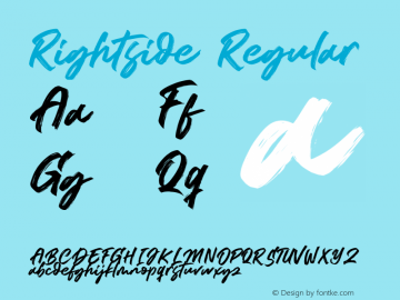 Rightside Version 1.00;March 21, 2020;FontCreator 12.0.0.2547 64-bit图片样张