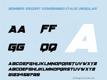 Bomber Escort Condensed Italic Version 1.0; 2020图片样张
