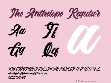 The Anthelope Version 1.00;March 13, 2020;FontCreator 11.5.0.2422 64-bit图片样张