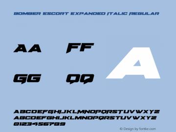 Bomber Escort Expanded Italic Version 1.0; 2020图片样张
