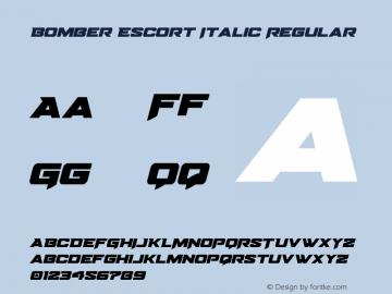 Bomber Escort Italic Version 1.0; 2020图片样张