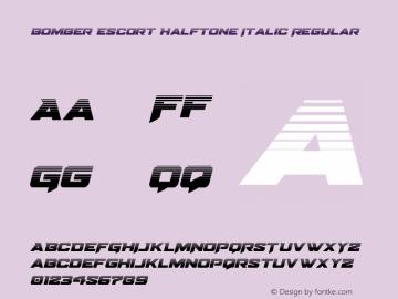 Bomber Escort Halftone Italic Version 1.0; 2020图片样张